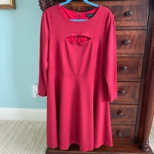 Eloquii Merlot Red Ponte Dress Size 16